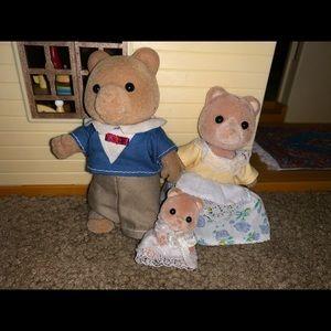 calico critter bear 🐻 family